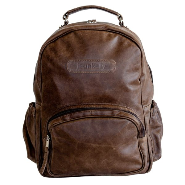 jeankelly coffee leather original backpack