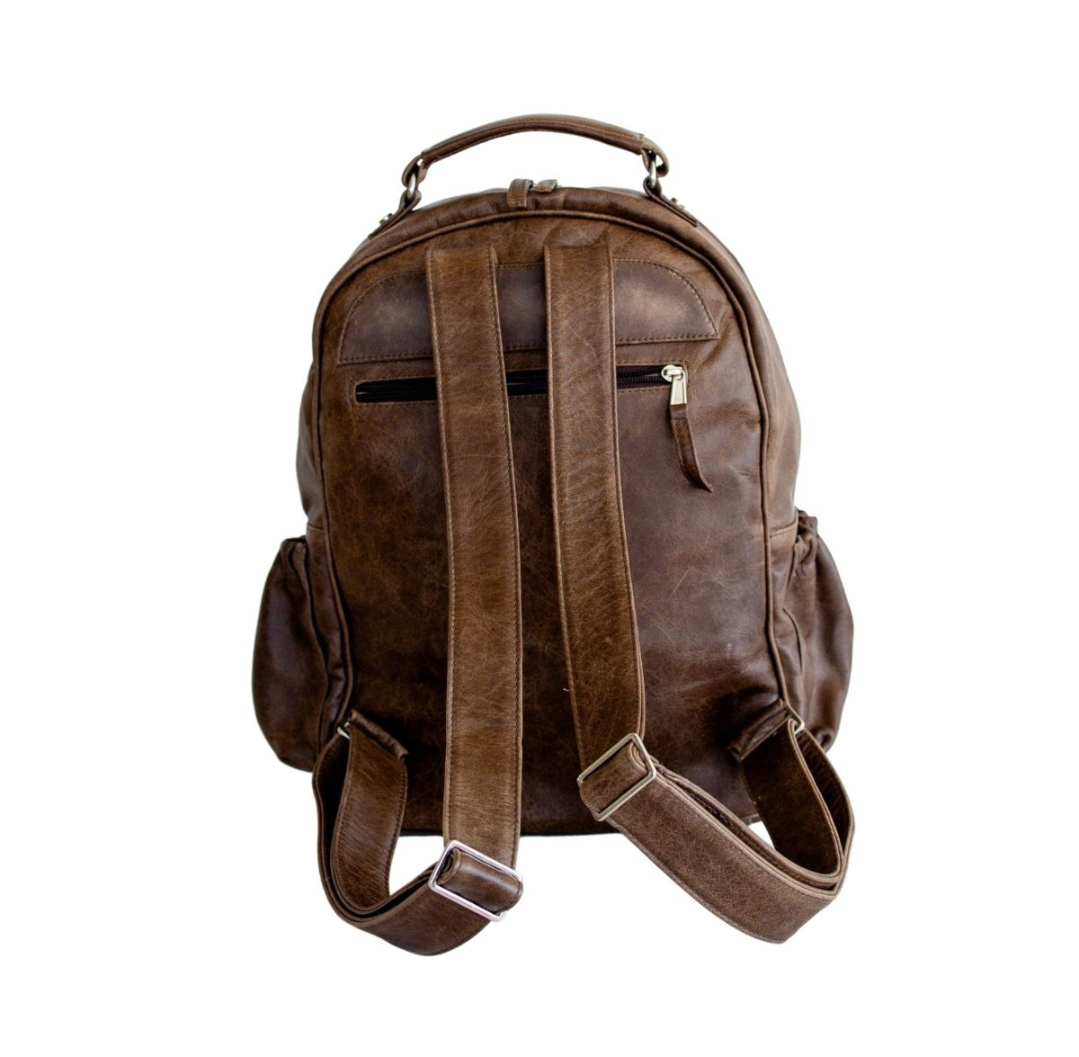 jeankelly coffee leather original backpack back