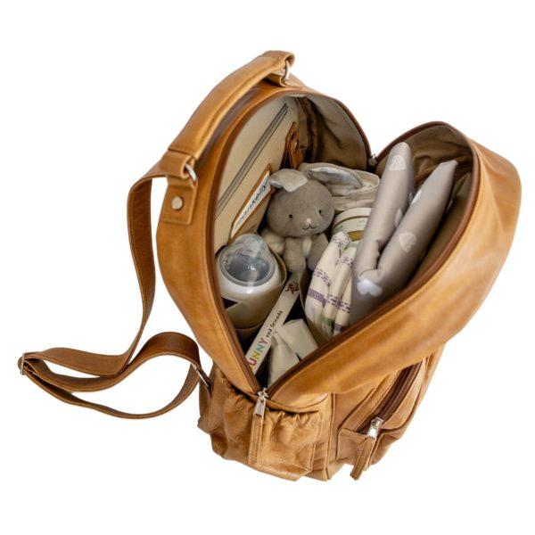 jeankelly vanilla blonde leather original backpack