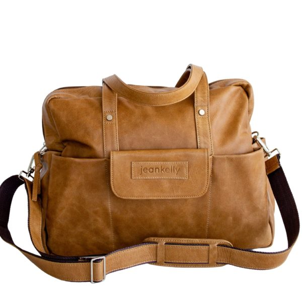 jeankelly vanilla blonde leather 5 pocket baby bag
